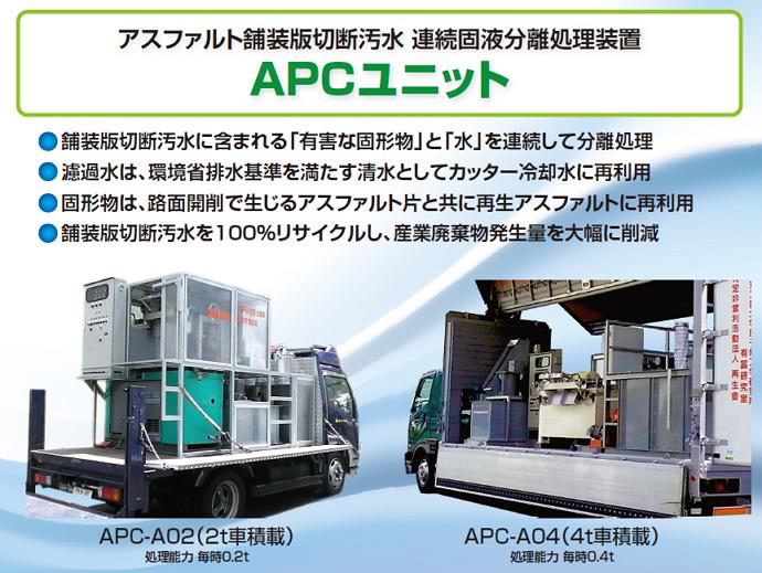 アスファルト舗装版切断汚泥連続固液分離装置APCユニット